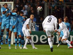 UEFA Champions League; Marseille 1-3 Real Madrid: Free-kick expert Cristiano Ronaldo scores from the spot.