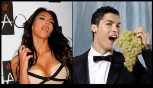 Kim Kardashian and Ronaldo