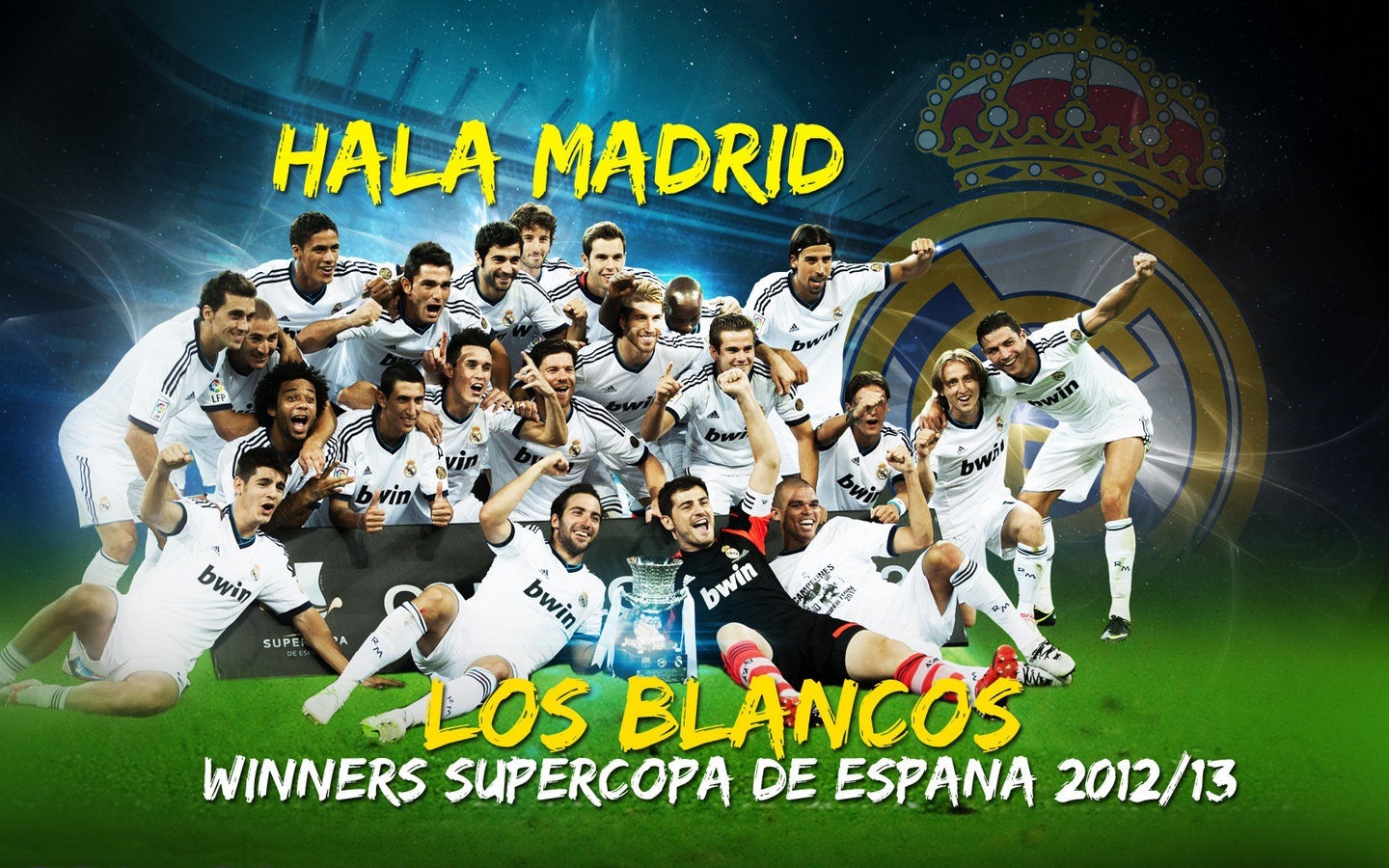 Wallpaper  Real Madrid Super Cup Winners 2012 13