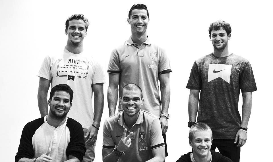 Nike world tour surfers yesterday in Portugal! Good luck at the competition for Julian Wilson - Kolohe Andino - Michel Bourez and Alejo Muniz.