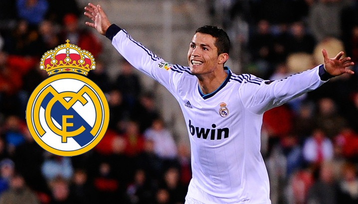Cristiano Ronaldo of Real Madrid CF celebrates after scoring his team's fourth goal during the La Liga match between RCD Mallorca and Real Madrid CF at Iberostar Stadium on October 28, 2012 in Mallorca, Spain. Real Madrid CF won 0-5.