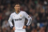 Cristiano Ronaldo of Real Madrid CF looks on during the Copa del Rey Quarter Final, 1st leg match between Real Madrid CF and Valencia CF at Estadio Santiago Bernabeu on January 15, 2013 in Madrid, Spain.