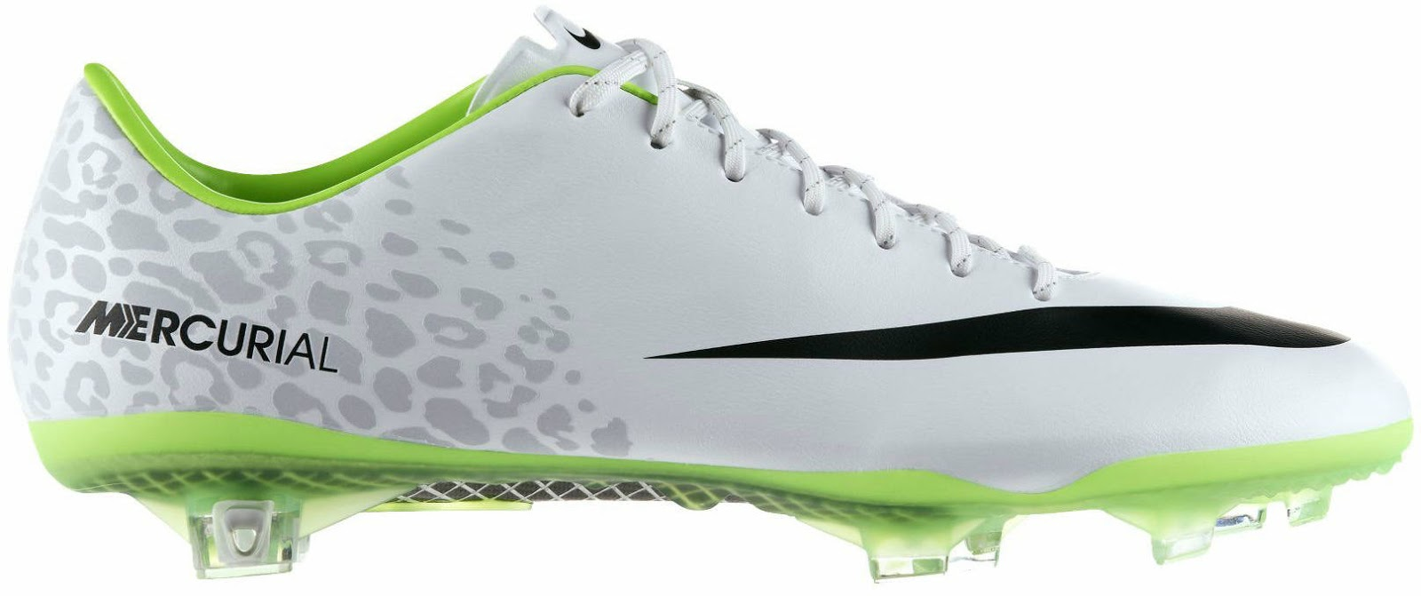 The inner sole and the outsole of this Nike Mercurial Vapor IX Colorway are  green, while on the upper appears the pattern of the coat of a fast animal  like ...