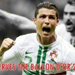 Ronaldo Deserves To Win The Ballon d'Or 2012