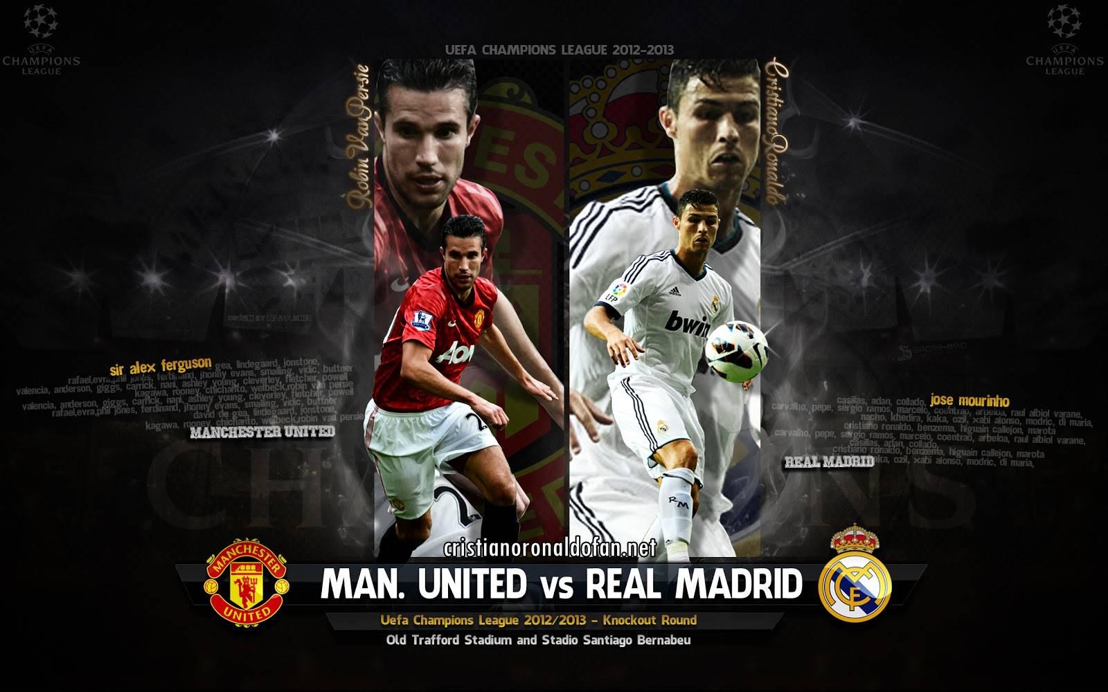 Wallpaper Manchester United Vs Real Madrid Cristiano Ronaldo